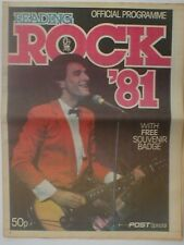 READING ROCK 1981 official programme 24 pages GILLAN
