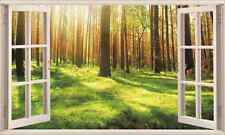 Forest Under Sunshine 3D Window Removable Wall Sticker Art Mural Wall Decal Deco