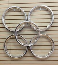 "Ford Model A Shay Deluxe Replica 18"" Chrome Beauty Rings TRIM RING SET of 5"
