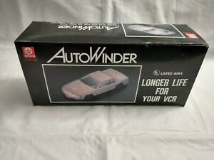 Kinyo Auto Winder UV-610 Silver Car VHS - VCR Tape Rewinder  New Old Stock