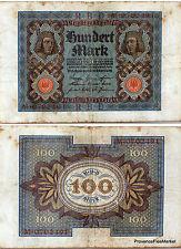 ALLEMAGNE Deuxième Reich billet 100 Mark  Pick 69 1920 BAMBERG HORSEMAN