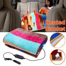 Electric 12/24V Heated Car Blanket Travel Rug Soft Caravan Flannel Volt Camping