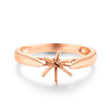 Round 5.5mm to 6.5mm Engagement Ring Real Solid 14K Rose Gold Anniversary Band