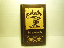 SPECIAL WOODEN CASE MASCOT WOLF SARAJEVO OLYMPIC GAMES 1984 LOCK KEY EX RARE