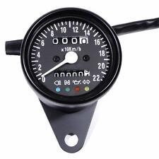 Mini Tachometer 2:1 schwarz 60 mm m. Kontrollleuchten