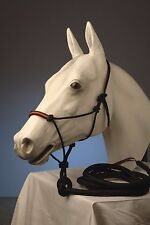 Rope Halter with contrasting stitched in noseband **FREE 12' LEAD ROPE**
