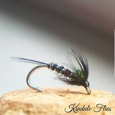 Holo / Red Black Cruncher size 12 (Set of 3) Fly Fishing Flies Trout