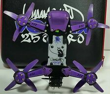 Vortex 250 Pro by ImmersionRC 5 Piece Skid Plate Set 3D Printed PURPLE