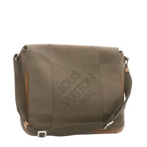 LOUIS VUITTON Damier Geant Messager NM Shoulder Bag Gray LV Auth jk252