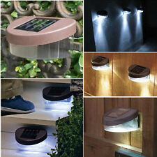SOLAR POWERED DOOR / FENCE / WALL LIGHTS LED OUTDOOR GARDEN LIGHTING BRIGHT 6 US
