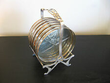 Webster Sterling Silver Drink Coaster and Caddy Set