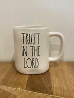 "Rae Dunn ""Trust In The Lord"" Mug VHTF LL Magenta Artisan Collection New"