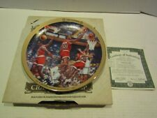 BRADFORD EXCHANGE BASKETBALL PLATE MICHAEL JORDAN UPPER DECK 1986 PLAYOFFS