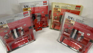 """Lot of 4 NEW BESSEY Tools BPC-H34 3/4"""" H Style Woodworking Pipe Clamps"""