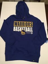 NBA Golden State Warriors Pullover Hoodie Mens Size XXL Royal Blue New