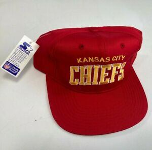 Vintage Kansas City Chiefs Starter Arch Snapback Football NFL Hat Brand New Tags