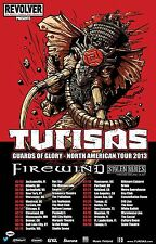 "TURISAS / FIREWIND ""GUARDS OF GLORY - NORTH AMERICAN TOUR 2013"" CONCERT POSTER"