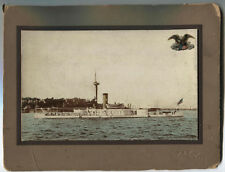VINTAGE PHOTO USS AMPHITRITE.SPANISH AMERICAN  WAR .