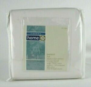 Casual Home Ivory Full Bed Skirt 15inch (100% Cotton) Drop 220 Thread Count New