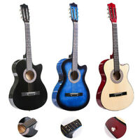 Guitar Acoustic Guitar with Guitar Case Strap Tuner&Pick Steel Strings 38''