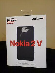 New in Sealed Box Verizon Prepaid - Nokia 2 V Smartphone Blue / Silver