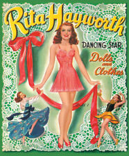 Sultry Rita Hayworth Vintage Reproduction Paper Dolls from Paper Studio Press