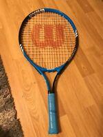 Wilson Federer 23 Tennis Racquet 3 5/8 Grip Blue / Black