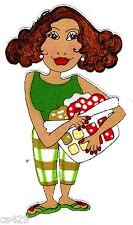 """4"""" Loralie maid laundry bin ladies of the house keeper fabric applique iron on"""