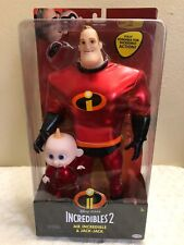 "Disney Pixar INCREDIBLES 2 "" Mr.INCREDIBLE & JACK-JACK "" Set of 2 Doll NEW"