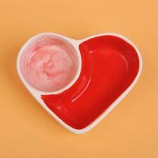 Hamster Ceramic Bowl Small Animal Bite Resistant Dish Heart-Shape Pet Food Bowls