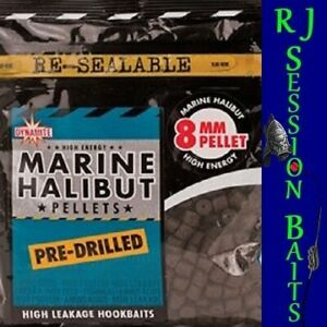 Dynamite Baits Halibut Pre-Drilled 8mm Session Pack of Approx 100 Pellets