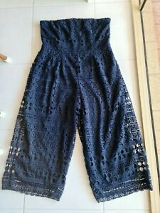 City Chic Stunning Lace Strapless Pants Suit Size M. Like New. Great Style & Fit