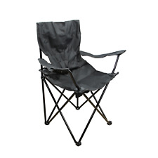 Black Outdoor Folding Camp Chair with Carry Case