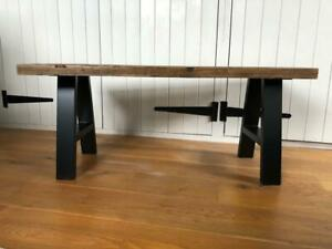 Reclaimed Rustic Wood Scaffold Board A Frame Leg Coffee Table - Size Options!
