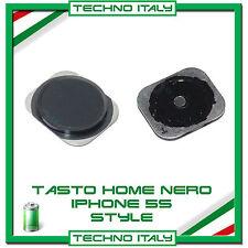 Ricambio Tasto Home Button per iPhone 5 stile iPhone 5S / 6 - Nero Black
