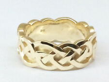 MR030 Heavy Thick Wide 9ct Solid YELLOW GOLD Celtic Ring X-Large size Z+1  13.25