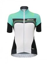 MAGLIA SANTINI QUEEN OF THE MOUNTAINS BIANCO VERDE tg. L