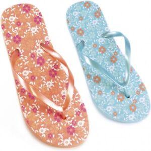 Ladies Floral Design Summer/Beach Flip Flops use UK 3-8