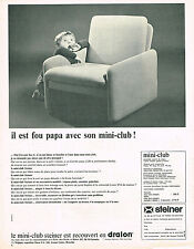 PUBLICITE ADVERTISING 094  1967  STEINER  fauteuil siège mini-club