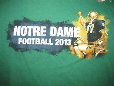 Notre Dame Fighting Irish Football 2013 T Shirt Sz M NCAA South Bend Alumni