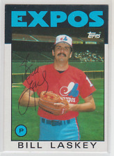 Autographed 1986 Topps Bill Laskey - Expos