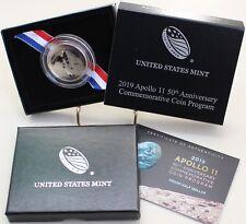 2019 Apollo 11 Clad Proof US Half Dollar Commemorative CURVED Coin Box and COA