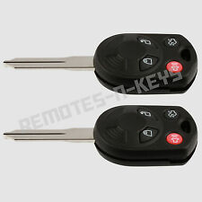 2 New Uncut Replacement Remote Head Ignition Key Keyless Entry Combo Transmitter