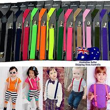 Children Kids Adjustable Elastic Suspenders Clip On Unisex Braces Boys Girls