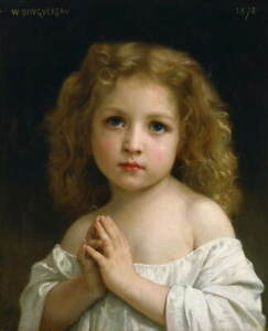 William Bouguereau Little Girl Poster Reproduction Paintings Giclee Canvas Print