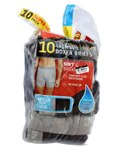 HANES Men's Size S (28-30)Tagless Boxer Briefs, 8-Pack Breathable Underwear, New