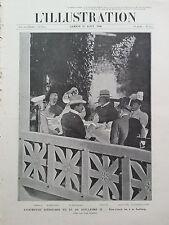 L'ILLUSTRATION 1906 N 3313 ENTREVUE D'EDOUARD VII et GUILLAUME II, A LA SAALBURG