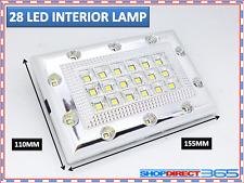 Blanco Brillante 28 LED Coche Furgoneta Vehículo Techo Techo Lámpara Luz Interior 12V (19-18)