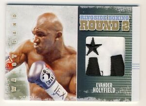 Evander Holyfield 2011 Ringside Boxing Round 2 Waist Land Patch Gold 1/1