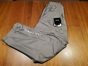 Huk Performance Fishing Men's Packable Rain Pants Gray sz. XL NEW w/ TAGS
